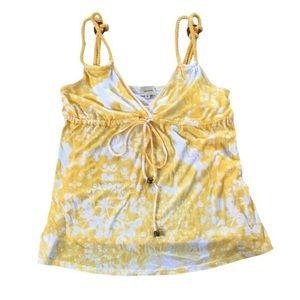 Ella Moss Tops - Ella Moss Floral Yellow Cami Top